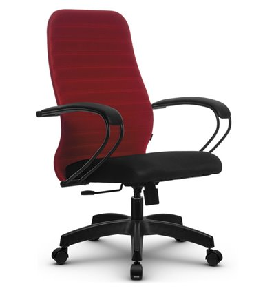 Кресло Метта SU-CP-10 красный для руководителя, ткань