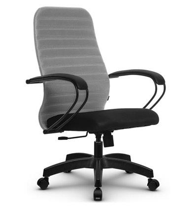 Кресло Метта SU-CP-10 светло-серый для руководителя, ткань