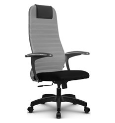 Кресло Метта SU-BM-10 светло-серый для руководителя, ткань