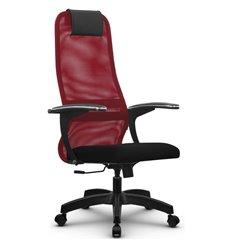 Кресло Метта SU-BM-8 красный для руководителя, сетка/ткань