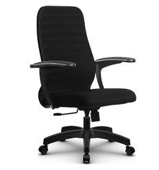 Кресло Метта SU-CM-10 черный для руководителя, ткань