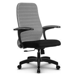 Кресло Метта SU-CM-10 светло-серый для руководителя, ткань