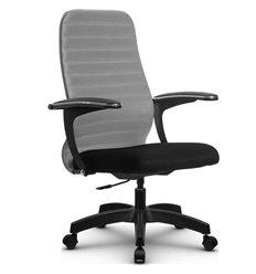 Кресло Метта SU-CM-10P светло-серый для руководителя, ткань