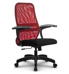 Кресло Метта SU-CM-8 красный для руководителя, сетка/ткань