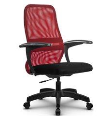 Кресло Метта SU-CM-8P красный для руководителя, сетка/ткань