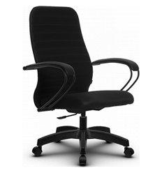 Кресло Метта SU-CP-10P черный для руководителя, ткань