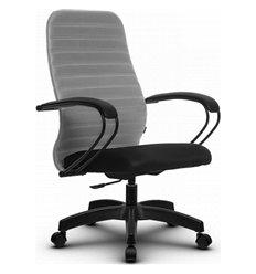 Кресло Метта SU-CP-10P светло-серый для руководителя, ткань