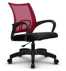 Кресло Метта SU-CS-9P красный для оператора, сетка/ткань