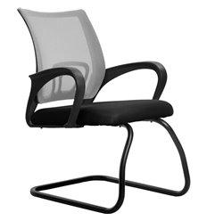 Кресло Метта SU-CS-9F2 светло-серый для посетителя, сетка/ткань