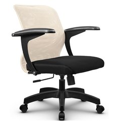 Кресло Метта SU-M-4 бежевый для оператора, сетка/ткань