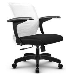 Кресло Метта SU-M-4 белый для оператора, сетка/ткань