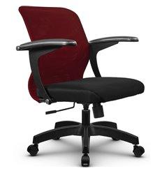 Кресло Метта SU-M-4 бордовый для оператора, сетка/ткань