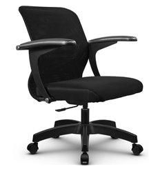Кресло Метта SU-M-4P черный для оператора, сетка/ткань