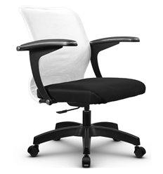 Кресло Метта SU-M-4P белый для оператора, сетка/ткань