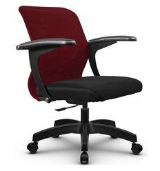 Кресло Метта SU-M-4P бордовый для оператора, сетка/ткань