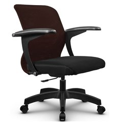 Кресло Метта SU-M-4P коричневый для оператора, сетка/ткань