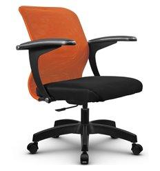 Кресло Метта SU-M-4P оранжевый для оператора, сетка/ткань