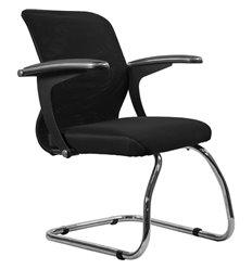 Кресло Метта SU-M-4F1 черный для посетителя, сетка/ткань