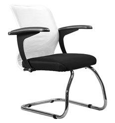 Кресло Метта SU-M-4F1 белый для посетителя, сетка/ткань