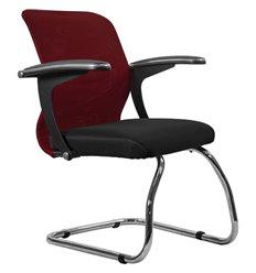 Кресло Метта SU-M-4F1 бордовый для посетителя, сетка/ткань