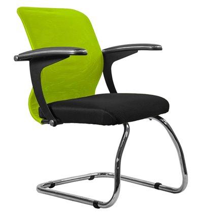 Кресло Метта SU-M-4F1 зеленый для посетителя, сетка/ткань