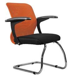 Кресло Метта SU-M-4F1 оранжевый для посетителя, сетка/ткань