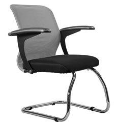 Кресло Метта SU-M-4F1 светло-серый для посетителя, сетка/ткань