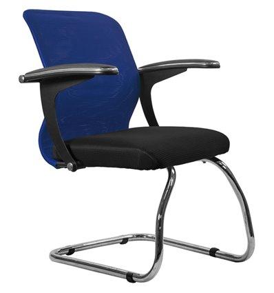 Кресло Метта SU-M-4F1 синий для посетителя, сетка/ткань