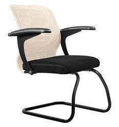 Кресло Метта SU-M-4F2 бежевый для посетителя, сетка/ткань