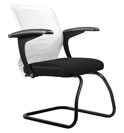 Кресло Метта SU-M-4F2 белый для посетителя, сетка/ткань