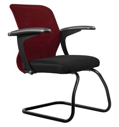 Кресло Метта SU-M-4F2 бордовый для посетителя, сетка/ткань