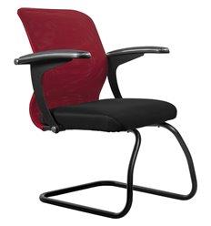 Кресло Метта SU-M-4F2 красный для посетителя, сетка/ткань
