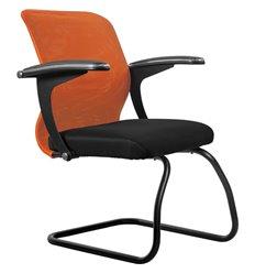 Кресло Метта SU-M-4F2 оранжевый для посетителя, сетка/ткань