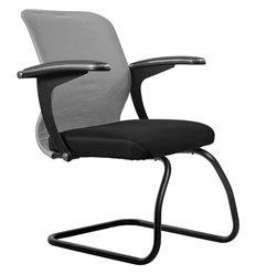 Кресло Метта SU-M-4F2 светло-серый для посетителя, сетка/ткань
