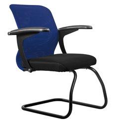 Кресло Метта SU-M-4F2 синий для посетителя, сетка/ткань