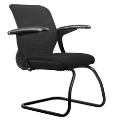 Кресло Метта SU-M-4F2 темно-серый для посетителя, сетка/ткань