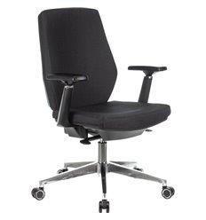 Кресло Бюрократ CH-545/LUX/418-BLACK для оператора, хром, ткань, цвет черный