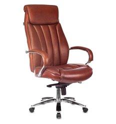 Кресло Бюрократ T-9922SL/CHOKOLATE для руководителя, хром, кожа, цвет коричневый
