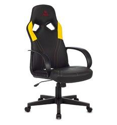 Кресло Бюрократ ZOMBIE RUNNER YELLOW игровое, экокожа, цвет черный/желтый