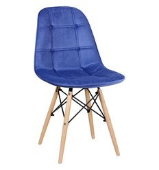 Стул Монако WX-302 синий дизайнерский, велюр
