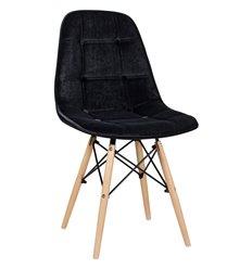 Стул Монако WX-302 черный дизайнерский, велюр
