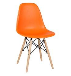 Стул EAMES DSW WX-503 оранжевый дизайнерский, пластик