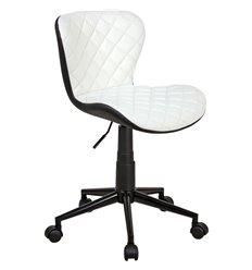 Кресло Бренд WX-970 для оператора, экокожа, цвет белый/черный