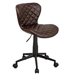 Кресло Бренд WX-970 для оператора, экокожа, цвет коричневый