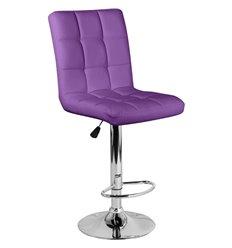 Стул барный Крюгер WX-2516 фиолетовый, экокожа