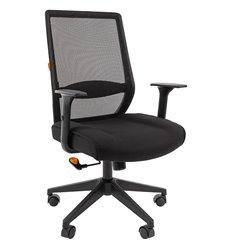 Кресло CHAIRMAN 555 LT для руководителя, сетка/ткань, цвет черный