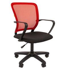 Кресло CHAIRMAN 698 LT TW-69 красный для оператора, сетка/ткань