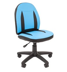 Кресло CHAIRMAN KIDS 122 Black Blue детское, экокожа, цвет черный/голубой