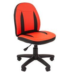Кресло CHAIRMAN KIDS 122 Black Red детское, экокожа, цвет черный/красный