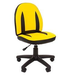 Кресло CHAIRMAN KIDS 122 Black Yellow детское, экокожа, цвет черный/желтый